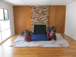 Before chimney sweeping