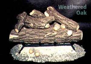 Formation Creation Weathered Oak gas log set