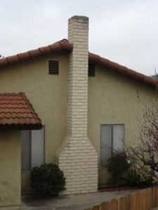 A typical Rampart General Pre-Cast chimney