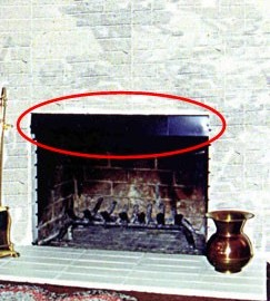smoke guard on fireplace