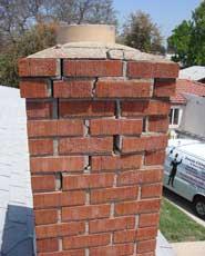 Cracks in chimney
