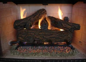 gas logs in use