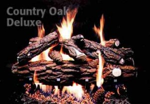 Formation Creation Country Oak Deluxe gas log set