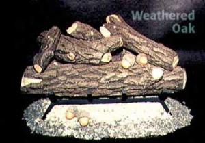 Formation Creation Weathered Oak gas log set