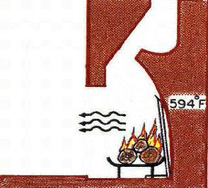 Fireplace backwall with a heat shield
