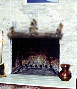 A fireplace with smoking problems