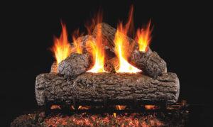 Golden Oak Gas Log set