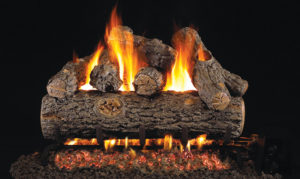 Golden Oak Designer Plus Gas Log set